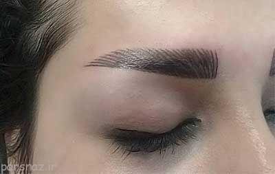 مدل تاتو ابرو و خط چشم