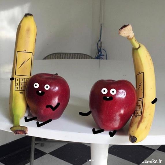 عکس های خنده دار میوه ها