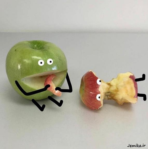 ایده های جالب و خنده دار میوه ها