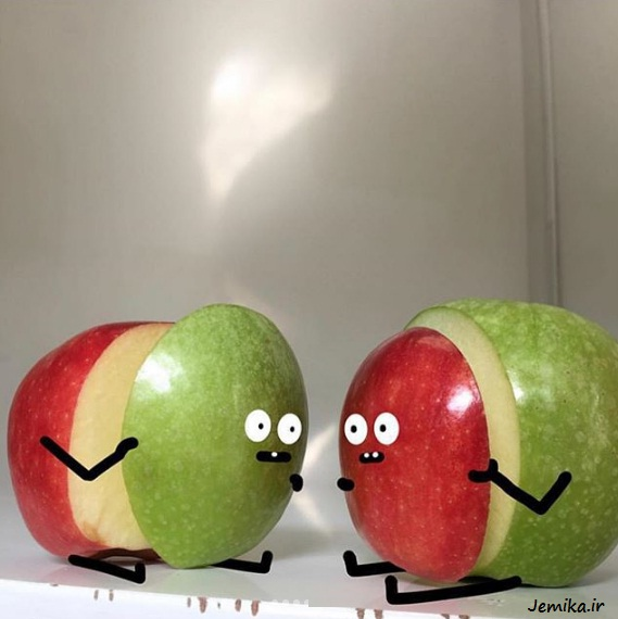 عکس های بامزه و خنده دار خفن روی میوه ها