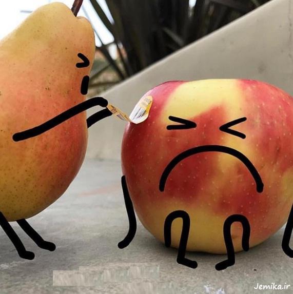 عکس های میوه های خنده دار