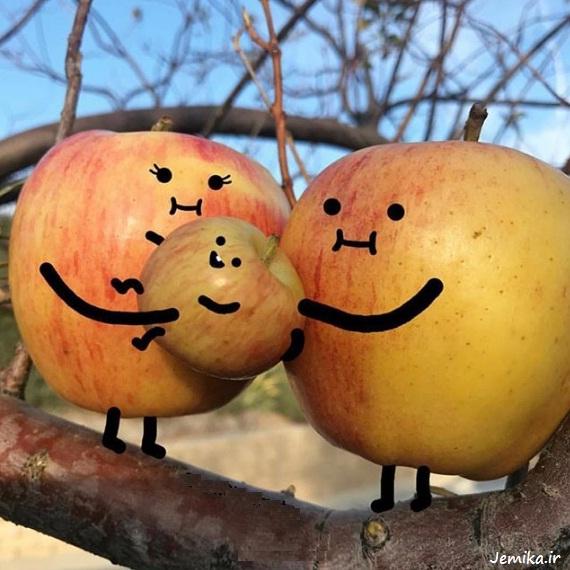 تصاویر جالب و خنده دار از میوه ها