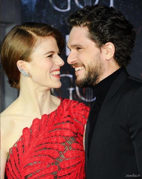 کیت هرینگتون همراه با همسرش رز لزلی