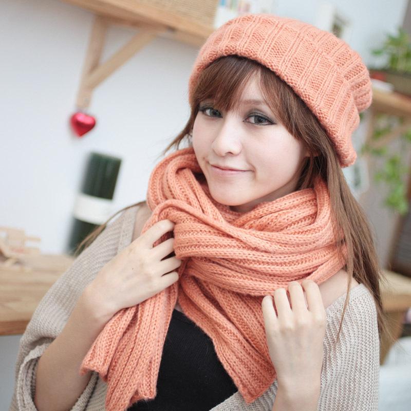 مدل کلاه و شال گردن دخترانه کره ای بسیار قشنگ و زیبا