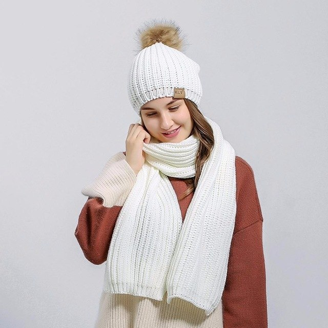 مدل کلاه و شال گردن بافتنی دخترانه جدید و شیک