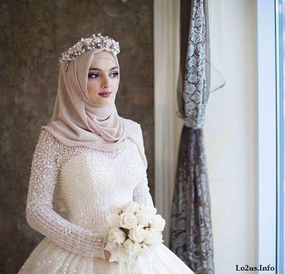 مدل ارایش عروس پوشیده