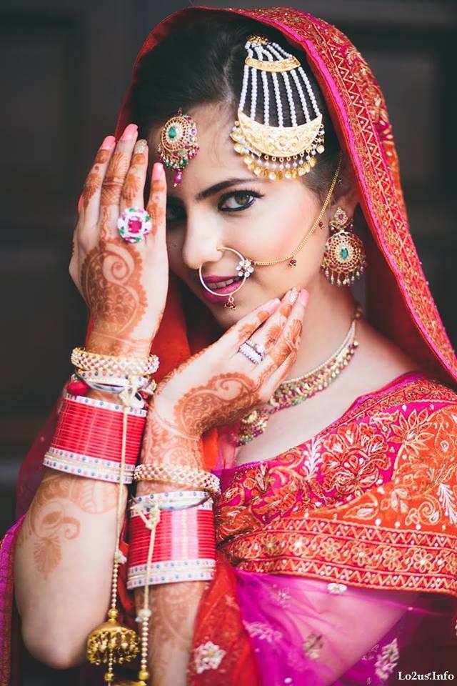 مدل آرایش عروس هندی