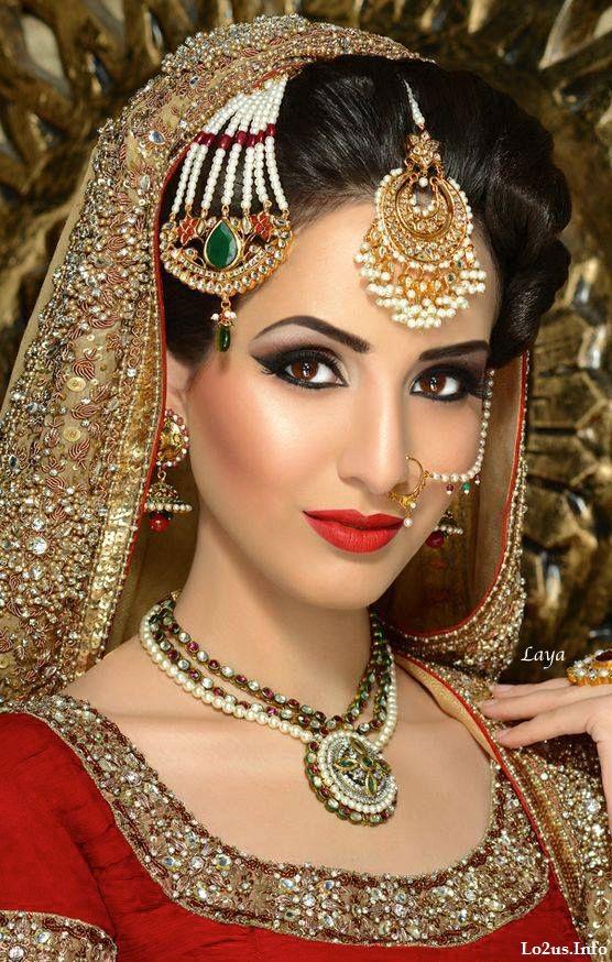 مدل جدید آرایش عروس هندی