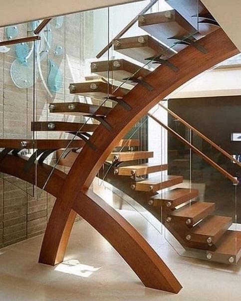 مدل راه پله چوبی شیک و زیبا