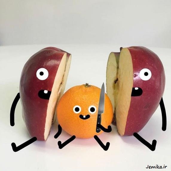 تصاویر بامزه و خنده دار از میوه ها