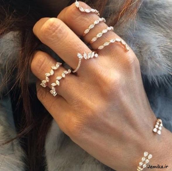 عکس مدل انگشترهای دخترانه ظریف