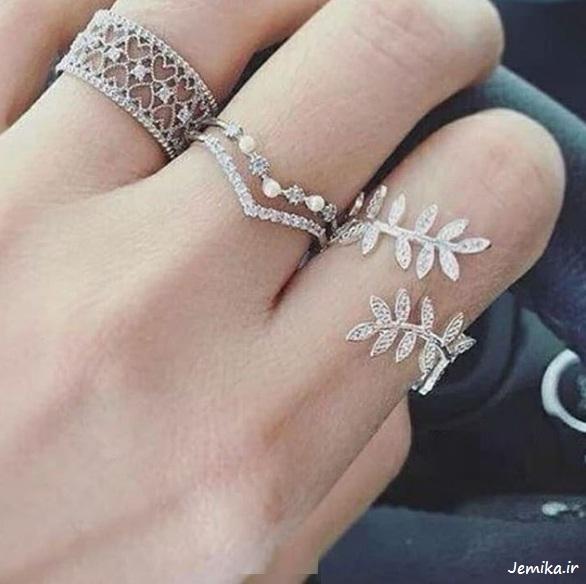 عکس مدل انگشترهای نقره
