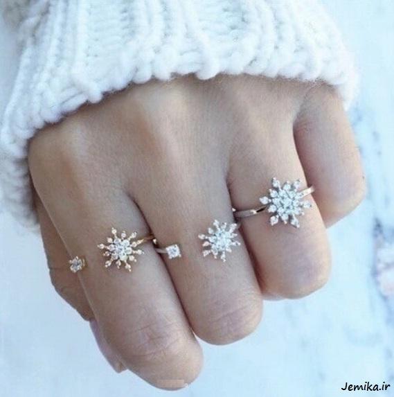 انگشترهای نقره ای ظریف زنانه