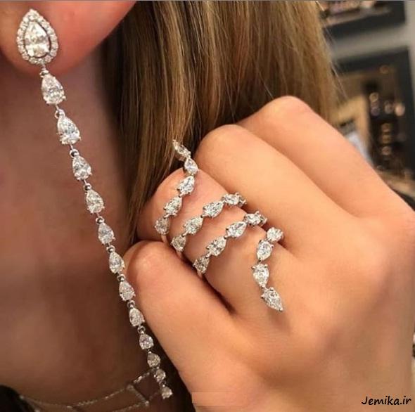 مدلهای نیم ست انگشتر طلا زنانه