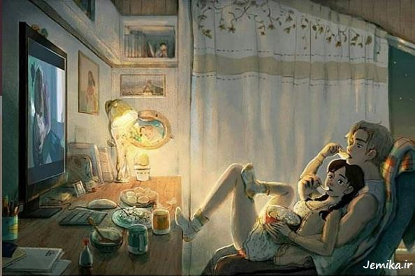 عکسهای پروفایل عاشقانه کارتونی زیبا