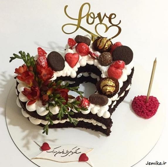 مدل کیک قلب برای سالگرد ازدواج