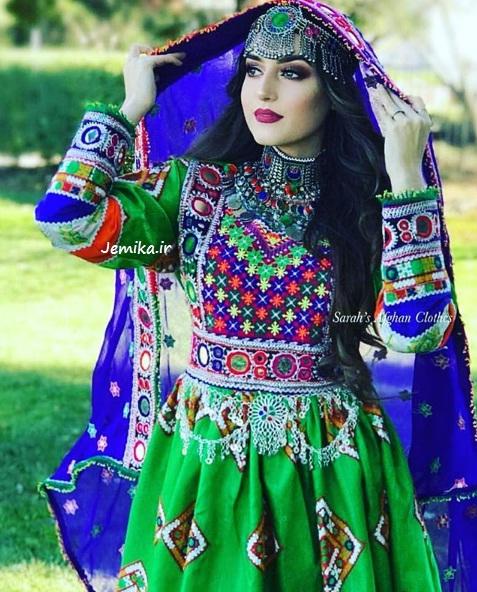 مدل لباس گند افغانی برای عروس