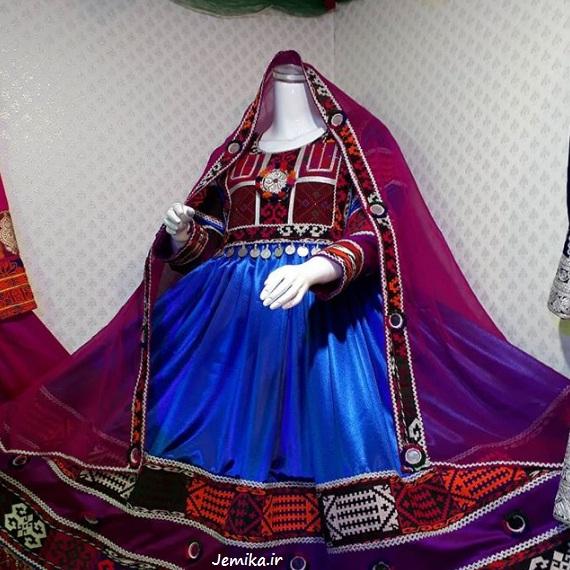 لباس گند افغانی رنگ شاد و زیبا