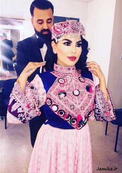 لباس گند افغانی آریانا سعید