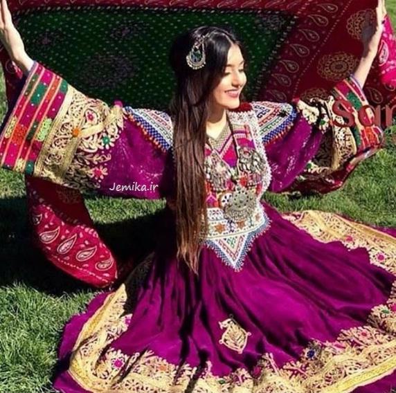 لباس گند افغانی عروس