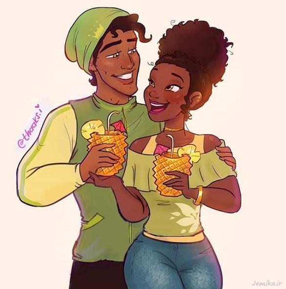 عکس عاشقانه کارتونی جالب